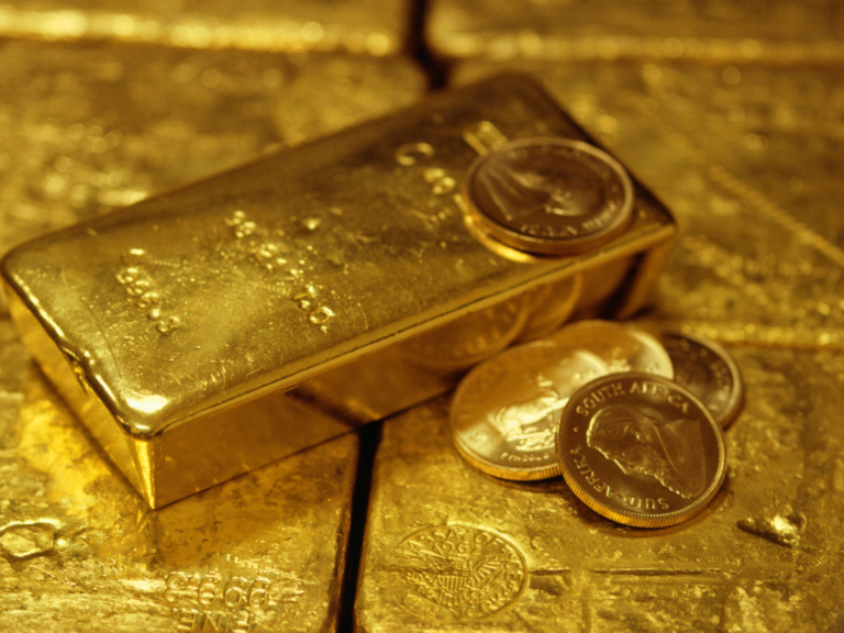 Stocks quiet, dollar declines, gold shines