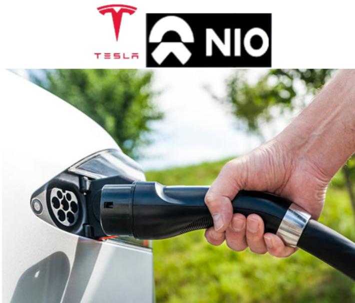 Trading en la batalla por el liderazgo del coche eléctrico de Tesla y NIO.