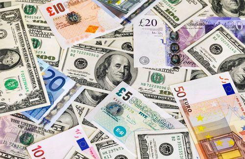 Un graphique du marché des devises.
