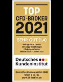 """DKI Deutsches Kundeninstitut Umfrage 2021: """"Top CFD-Broker 2021"""" mit dem Kundenurteil """"sehr gut"""" (1,4)"""