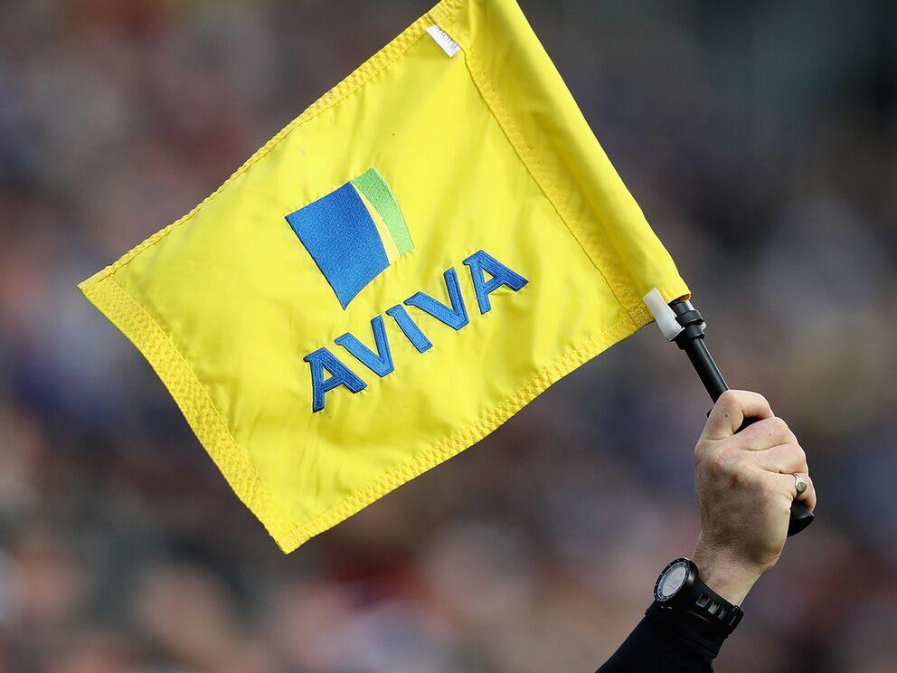 Aviva share price: the Aviva logo on a linesman's flag