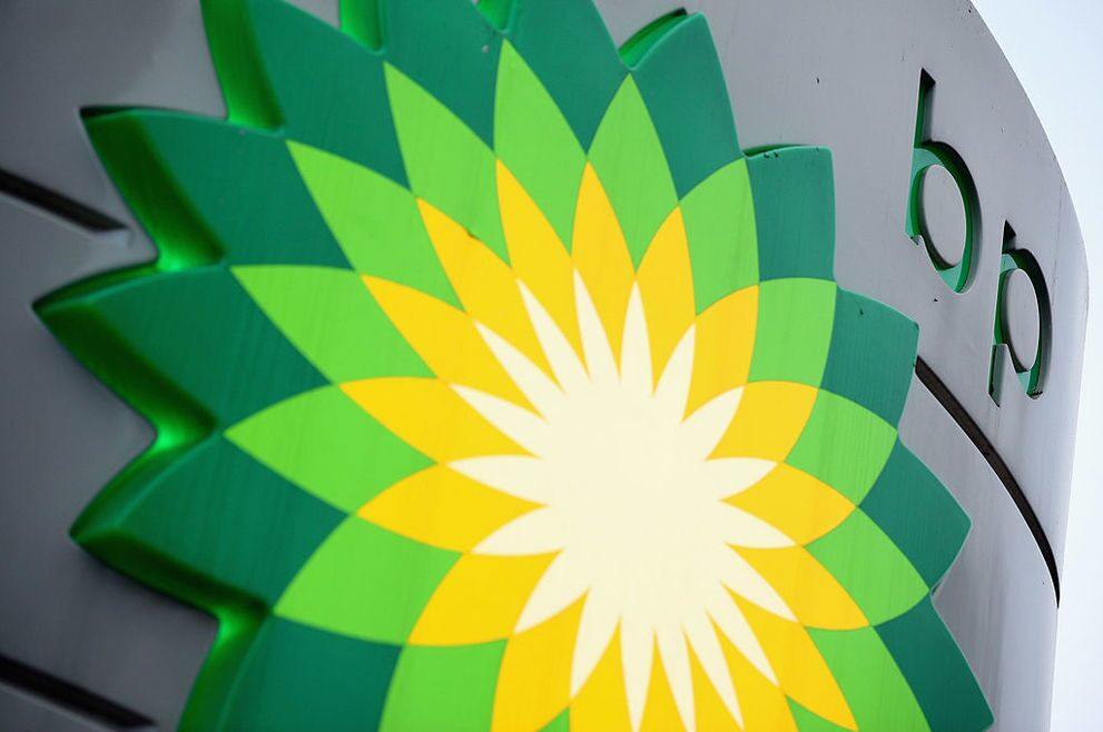 BP share price: BP logo seen on garage forecourt