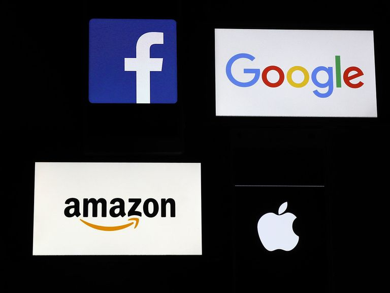Amazon and Facebook share prices soar in tech surge; but is a pullback due?