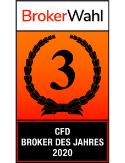 Broker-Wahl des Jahres 2020: 3. Platz unter den CFD-Brokern