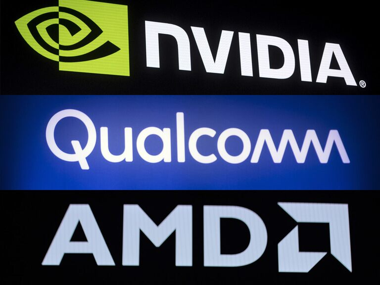 AMD, Nvidia and Qualcomm's share prices: 3 chipmakers growing in value