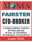 "Focus Money Testausgabe 23/2020: ""Fairster CFD-Broker"""