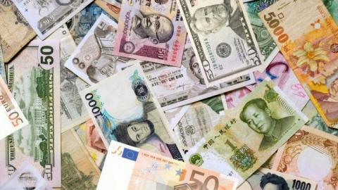 una selección de monedas del mercado forex