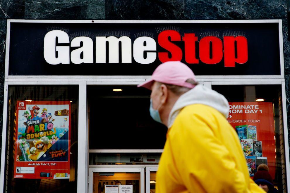 GameStop share price: a GameStop store front