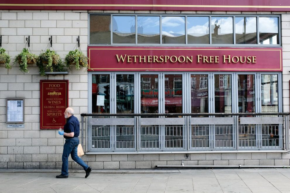 Wetherspoon share price: a closed Wetherspoon's pub