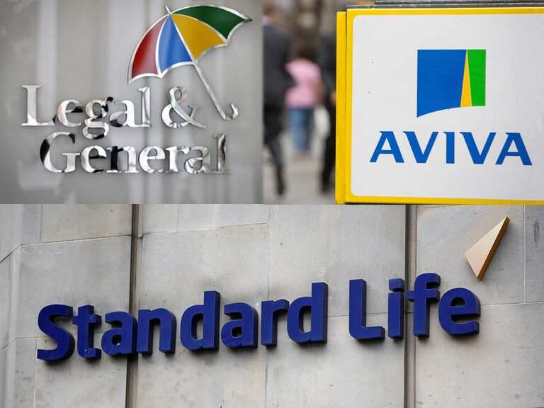 Sector spotlight: Legal and General, Aviva & Standard Life's share prices