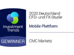 """Deutschland CFD- und FX-Studie 2020 von Investment Trends: """"Beste mobile Plattform"""""""