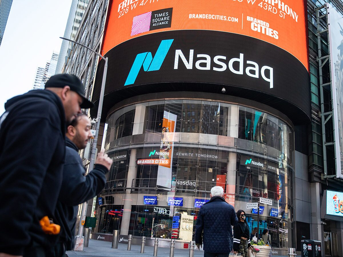 Why is the Nasdaq outperforming the S&P 500 and Dow Jones index?