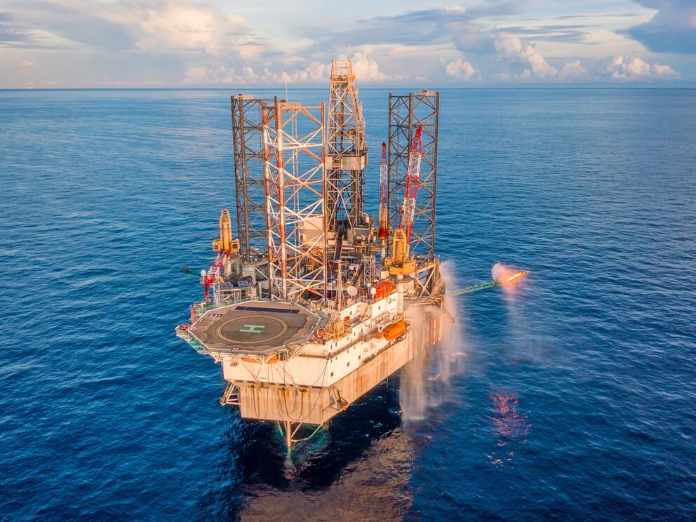 Premier Oil share price: an oil rig in the sea