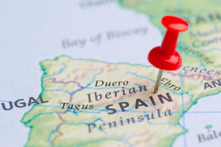 spain spanish map
