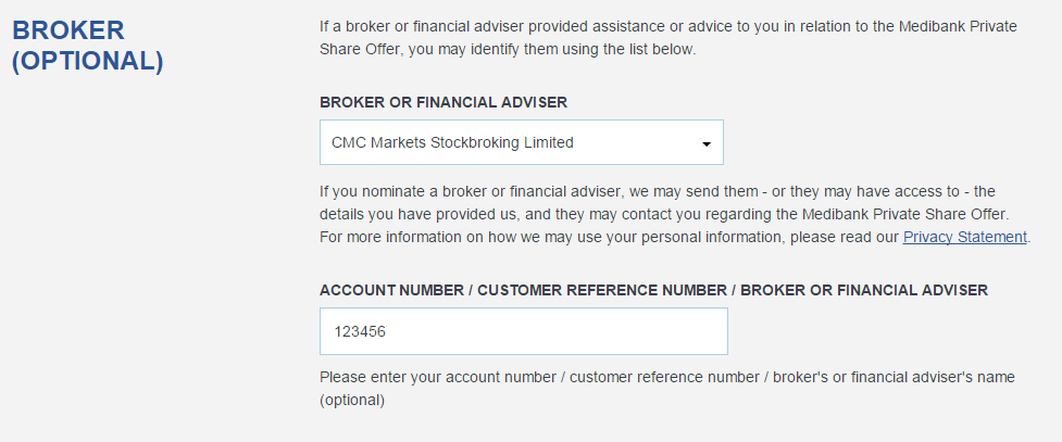 Broker 6 digit number