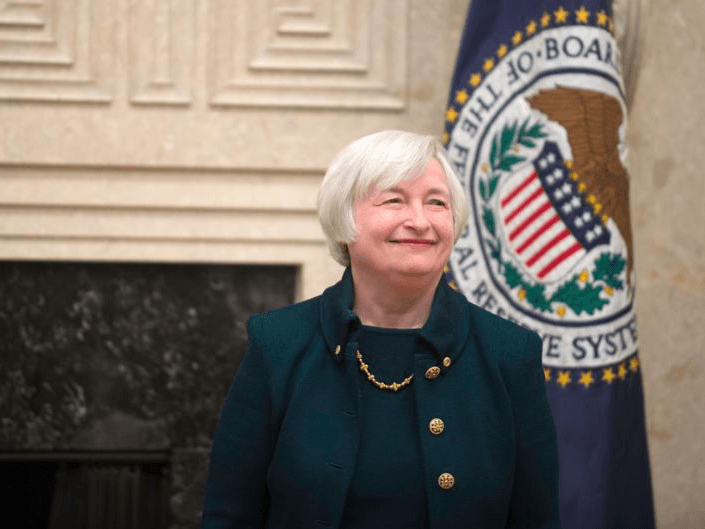 Sentiment muted as Yellen speaks