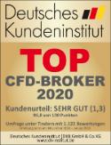 """DKI Deutsches Kundeninstitut Umfrage 2020: """"Top CFD-Broker 2020"""" mit dem Kundenurteil """"sehr gut"""" (1,3)"""